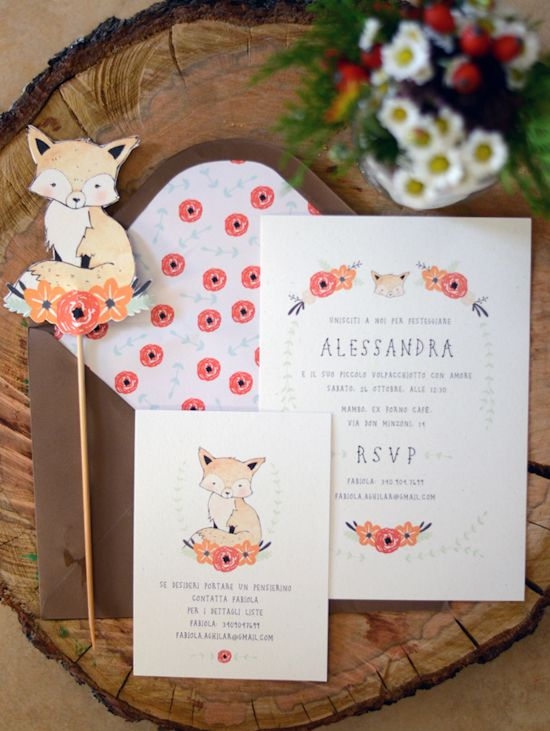 {Life} My little fox baby shower Invitation by Kelli Murray