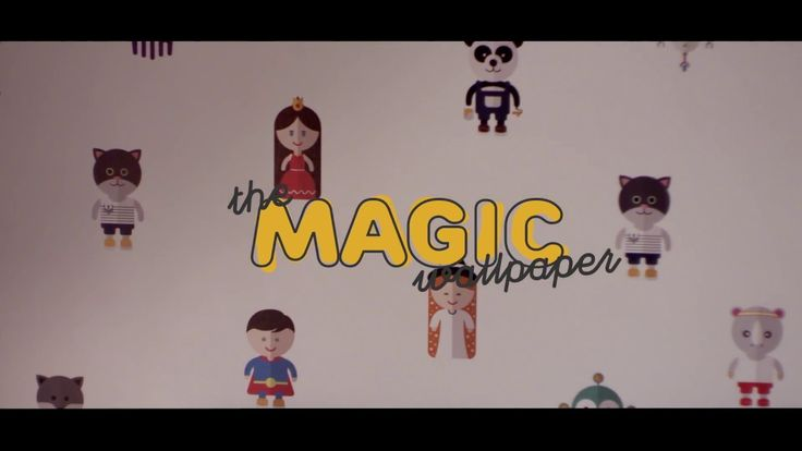 The Magic Wallpaper, first story telling wallpaper, by TBWA\Paris for Castorama