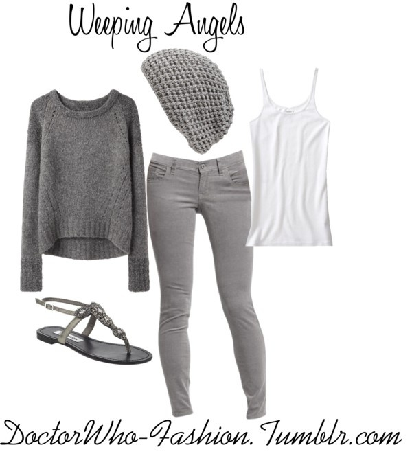 """""""Weeping Angels"""" by doctor-who-fashion ❤ liked on Polyvore"""