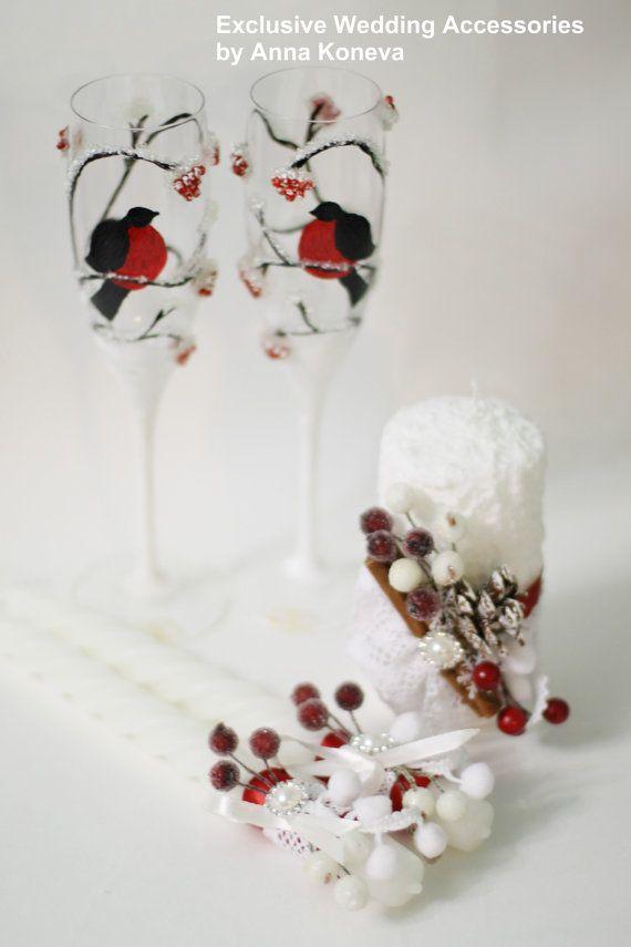 Красивая свадьба свечи Зимняя свадьба от JewelryBouquet на Etsy