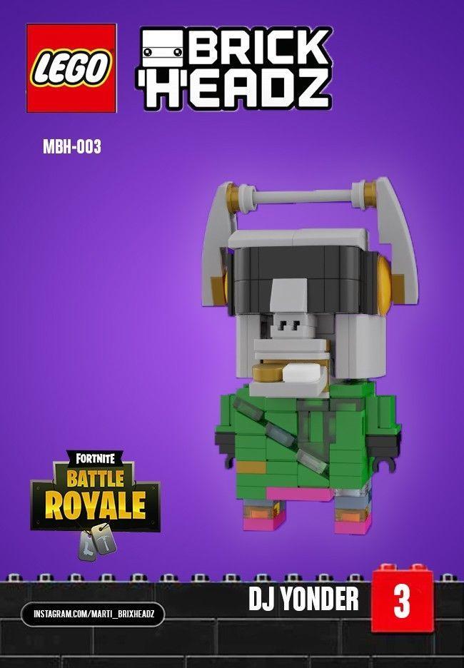 Details About Lego Brickheadz Fortnite Dj Yonder Moc Instructions