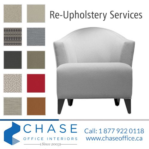 Chase Office Interiors can help your business maintain a professional interior without breaking your budget! For more information call: 1-877-922-0118
