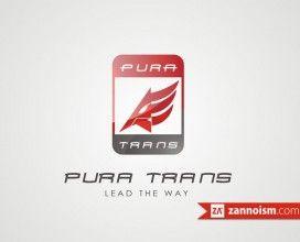 Logo Perusahaan Transportasi Pura Trans by Zannoism.com