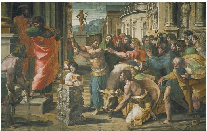 V&A - Raphael, The Sacrifice at Lystra (1515) - Raffaello Sanzio - Wikimedia Commons