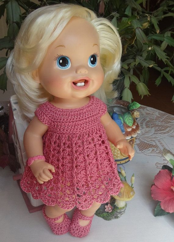 Crochet outfit Baby Alive Princess or New by dollcrochetboutique