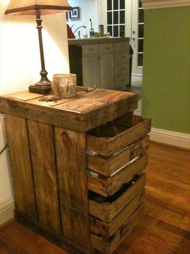 con pallets o cajones todo ideas pinterest diy. Black Bedroom Furniture Sets. Home Design Ideas