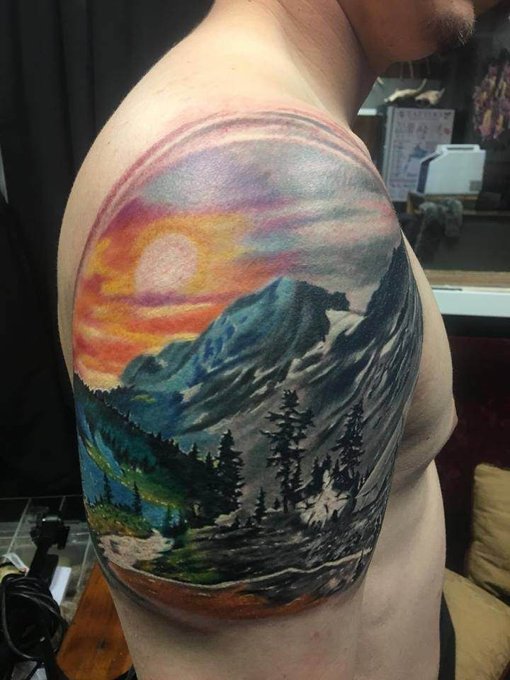 yin yang mountain side by Kyle Nelson Dermawerx HelenaMT