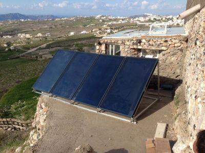 Σύστημα Ηλιακής Θέρμανσης σε ξενοδοχείο στην Σαντορίνη