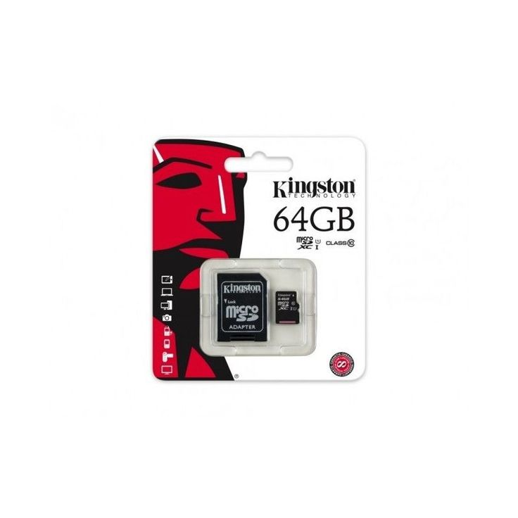 KINGSTON MICRO SD 64GB CLASSE 10 CLASS MICROSD SDHC SCHEDA DI MEMORIA CARD