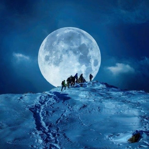 Full Moon Hike Over The Mountains On A Cold Winter Night Photography By Ronny Tertnes Ronnytertnes Ht In 2020 Full Moon Photography Hike Photography Moon Photography
