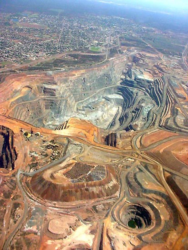 Superpit Gold mine, Kalgoorlie, WA Mining is the #1 source of income for so many in W.A. These massive mines are really a man made 'wonder' of the world.