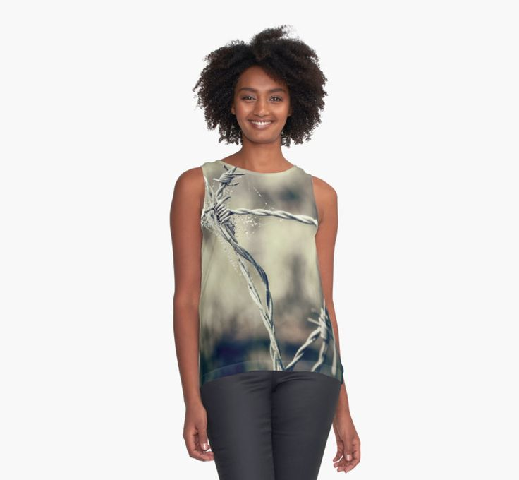 """""""Pointy Droplets"""" #chiffon #top by Caitlyn Grasso. #fashion"""