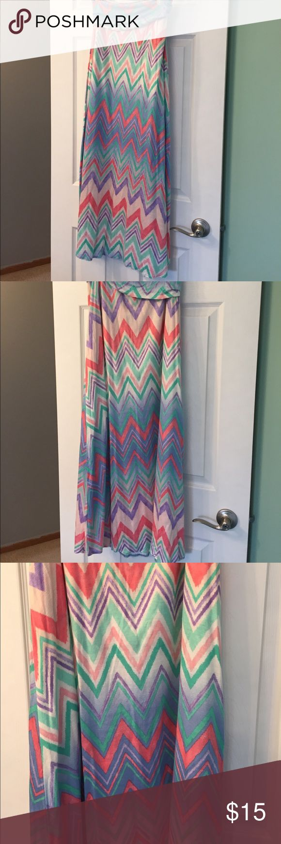Chevron maxi skirt size medium Super soft and comfortable! Only wore a few times final touch Skirts Maxi