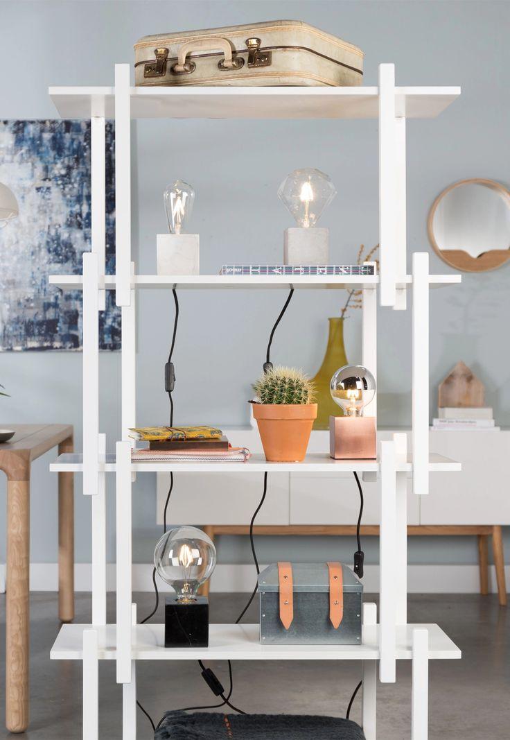 Een stijlvolle lamp voor in de kast of op tafel. #zuiver #interiordesign