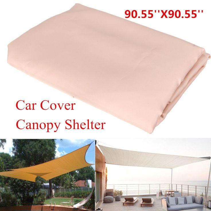 2.3X2.3M Patio Shade Sail Garden Cover Weterproof Mesh Net Window Awning Carport Canopy