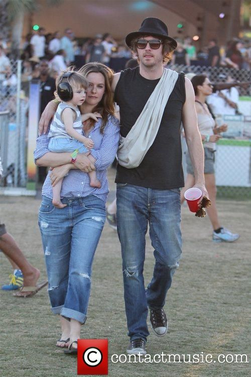 Alicia Silverstone with husband Christopher Jarecki, and their baby. So adorable.