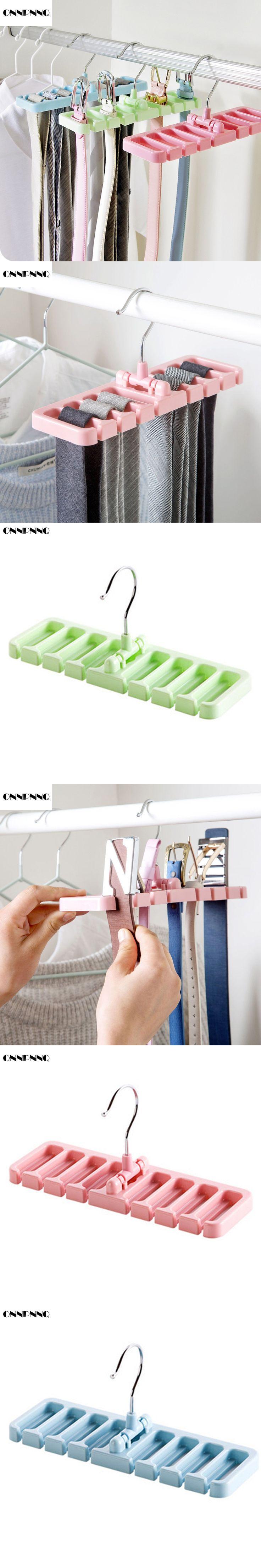 ONNPNNQ Multifuction Rotating Tie Hanger Holder Storage Rack Closet Belt Organization