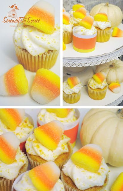 ... } Easy Pumpkin Cupcakes with Candy Corn & Buttercream Icing + Recipes