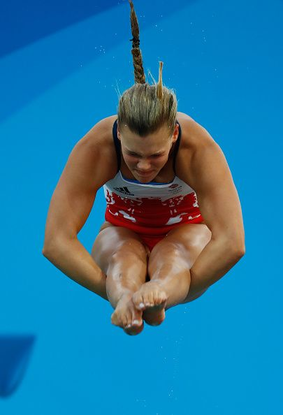 Grace Reid of Great Britain competes in the Women's Diving 3m Springboard Final…