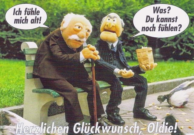 Postkarte - Waldorf und Statler Postkarten