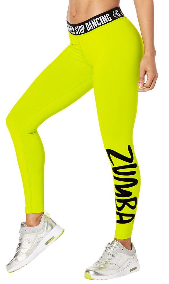 Never Stop Dancing Ankle Leggings [Zumba Green]