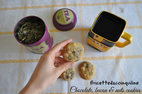 Biscotti al cioccolato con bacon (non pancetta!) e noci - I cookies!