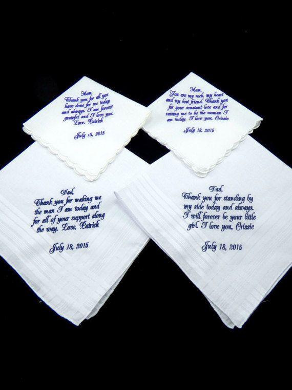 Mother of the Bride Handkerchief, Mother of the Groom Handkerchief, Father of the Bride Handkerchief, Father of the Groom Handkerchief by EllaWinston Get yours here https://www.etsy.com/listing/235847481/mother-of-the-bride-handkerchief-mother?ref=shop_home_active_1 $95.56 #motherofthebridegift