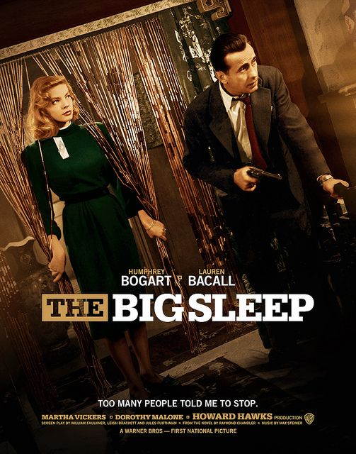 The Big Sleep (1946) Bogart & Bacall Movie Posters https://www.youtube.com/user/PopcornCinemaShow