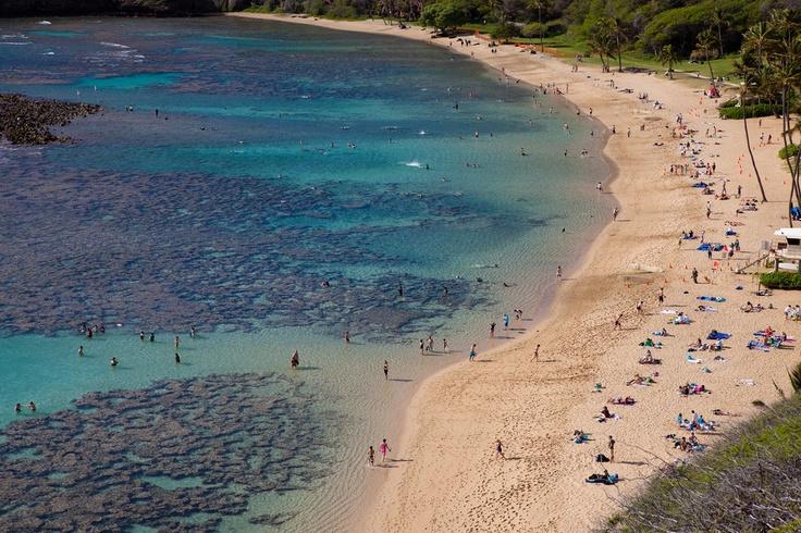 Земной рай – гавайский пляж внутри древнего кратера