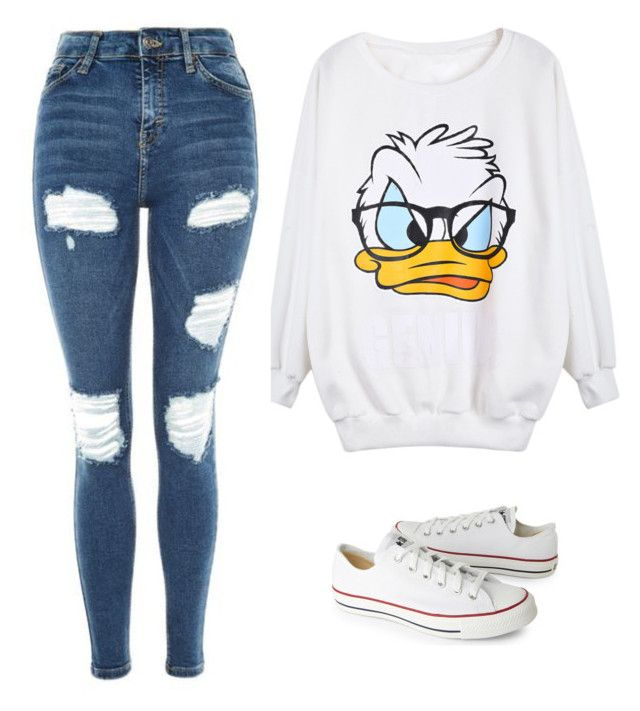 """."" by marsophie ❤ liked on Polyvore featuring Topshop and Converse"