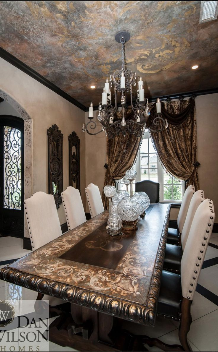 Tuscan dining room table - Old World Mediterranean Italian Spanish Tuscan Homes Decor