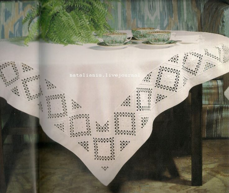 Hardanger table cloth