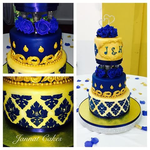 royal blue and yellow wedding cakes 8 best must add ons images on events 19362