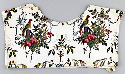 Sitsen beuk van Schouwen, met fraai bloemmotief (Zeeuws Museum-collectie KZGW)