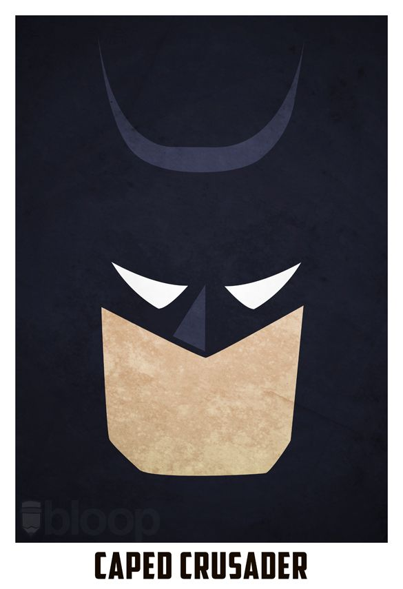 Andres Romero aka Bloop created these minimalistic cartoon and superhero posters