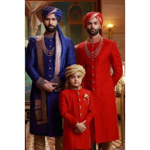 Buy Samyakk Blue And Red Solid Achkan Sherwani online in India at best price. Buy Wedding Sherwani Green Online Samyakk Bangalore