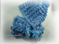 Tina's handicraft : how to make a crochet hat & scarf ( butterfly stit...