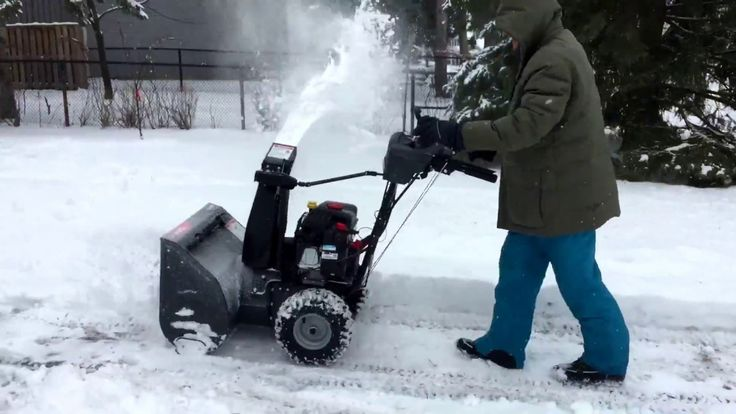 Cleaning the snow