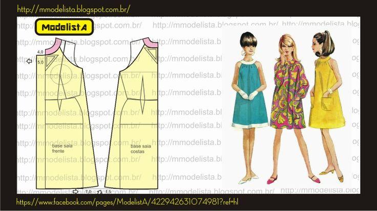 ModelistA: Vestido trapézio