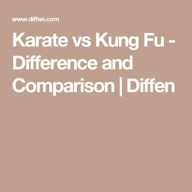 Karate vs Kung Fu - Difference and Comparison | Diffen