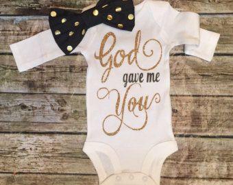 Baby Girl Onesie Jesus Loves Me Onesie For Baby by BellaPiccoli