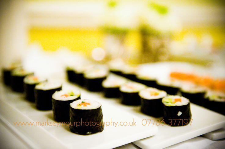 Sushi- perfect wedding canapés!