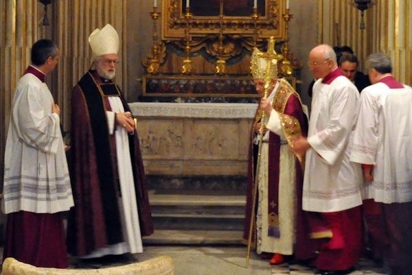Anglican Journal: Roman vespers unite Pope, Archbishop of Canterbury in prayer