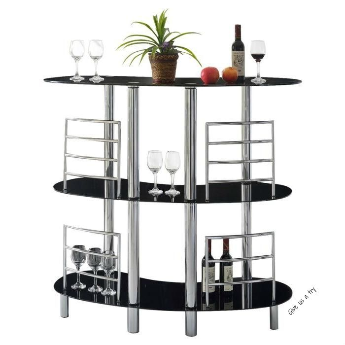The Sturdy Modern Home Bar With Glass Top Offers An Ultramodern Space To Serve And Sip Cocktails Crafted In 2021 Glass Shelves Kitchen Glass Shelves Wine Glass Shelf