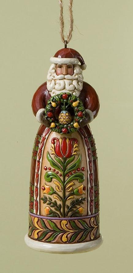 Jim Shore Santa ornament.