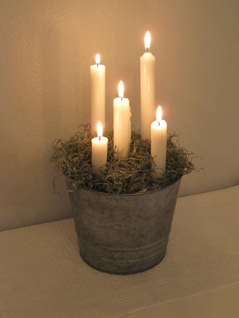 Advent Candle--used the Pinterest search 'advent candle' and found so many beautiful ideas.