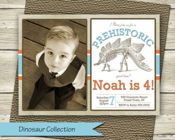 Hey, I found this really awesome Etsy listing at https://www.etsy.com/listing/201854289/dinosaur-photo-invitation-dino-invite