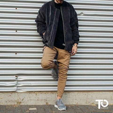 Via @blvckxculture ________________________________________________ Jacket: topman Tshirt: garbagetv_ Pants: bershka Shoes: adidas x kingpush ________________________________________________  Trillest outfit by @shimmichoo