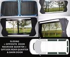 5 x VW T5 Campervan Blackout Curtains Sets, (SWB) T5 Transporter, Ties & Poppers