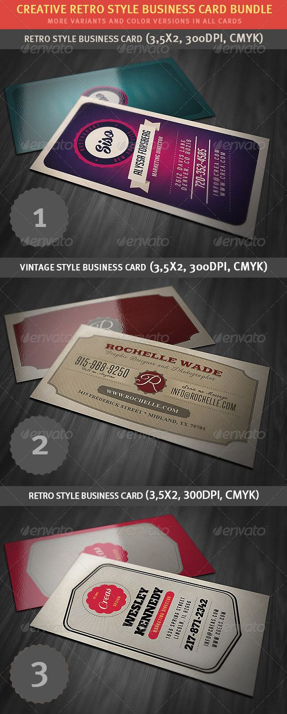 43 best business cards images on pinterest business cards carte retro business card bundle reheart Gallery